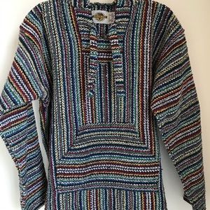 Knit Baja pullover sweater